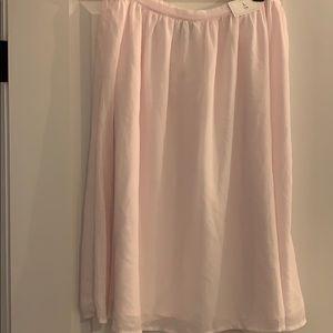 Blush Pink GAP Flowy Midi Skirt Size L NWT